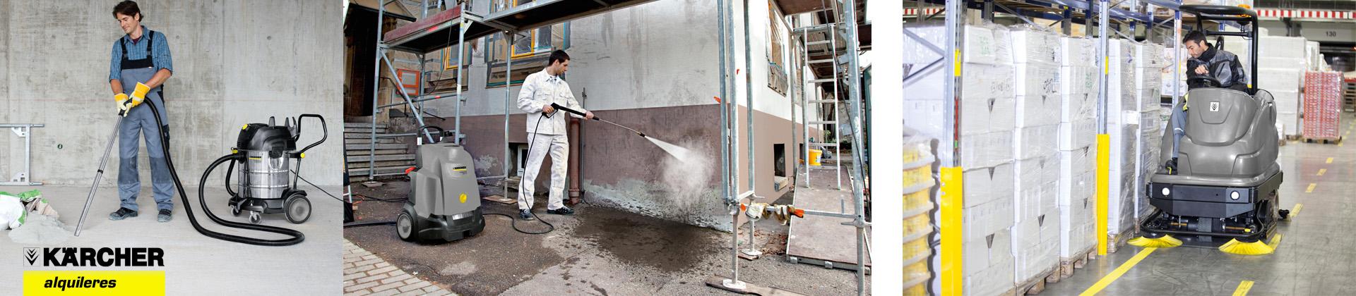 Alquiler de maquinaria de limpieza Karcher